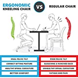 Ergonomic Kneeling Chair, Adjustable Stool (Double Thick Foam) for Home, Office, and Meditation (Mesh)