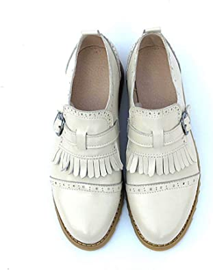 Womens Hollow Flats Slip On Pointed Toe Pumps Brogues Oxfords Loafers Shoes Size