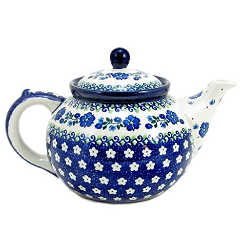 polish pottery teapot with warmer - 8