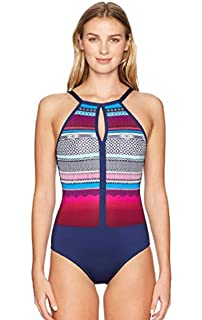 Nautica Womens Caraval Halter One Piece Swimsuit