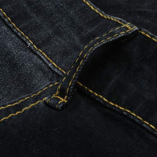 Leggings Mujer Elástico Pantalones Gusspower Pantalones Alta Flacos Jeans Push Vaqueros Mezclilla Negro up Cintura w4IRHAqx8