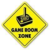 [SignJoker] GAME ROOM ZONE Sign xing gift novelty gaming movies tv media room Wall Plaque Decoration