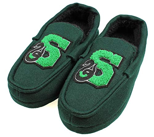 Harry Potter Men's Slytherin House Moccasin Slippers (S 5/6), Green from Harry Potter