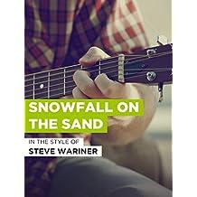 Snowfall On The Sand