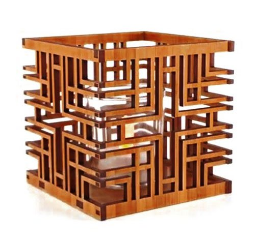 Frank Lloyd Wright Millard House Design Hardwood Votive (Holder Wood Wright Design)