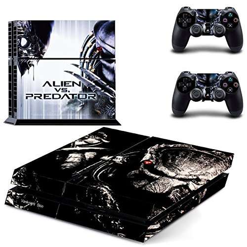 Vanknight Vinyl Decal Skin Sticker Alien VS Predator for PS4 Playstaion Controllers