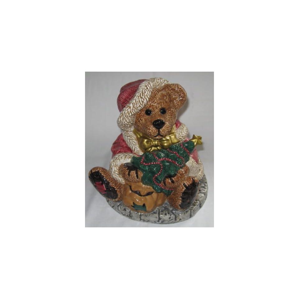 Boyds Bear Grenville The Santa Bear Cookie Jar Numbered