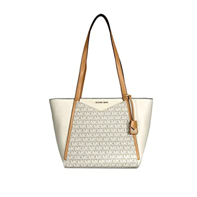 74a1179ee52a48 Amazon.com: Michael Kors Whitney Small Leather Tote- Natural/Butternut:  Shoes