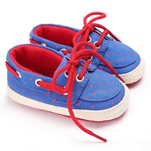 Hunpta Baby Schuhe Boy Girl Neugeborene Crib Soft Sole Schuh Sneakers Rot