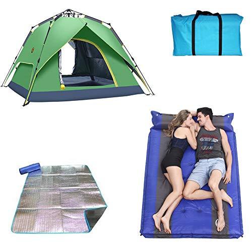 ゴネリルグラディスネコ更新されたバージョンダブル人物ポップアップテント、油圧キャンプテント、自動ポップアップテント、キャリーバッグ付きキャンプダブルレイヤーテント (Capacity : 2)