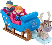 Fisher-Price Disney Frozen Kristoff's Sleigh by Little People, Figure and Vehicle