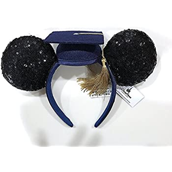 Disney Parks Class of 2018 Graduation Mortar Board Sequin Minnie Ears Headband