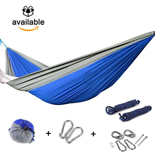 camping-hammock-set-for-2-persons-blue-grey-indoor-and-outdoor-hanging-kits-ultra-durable-nylon-by-b