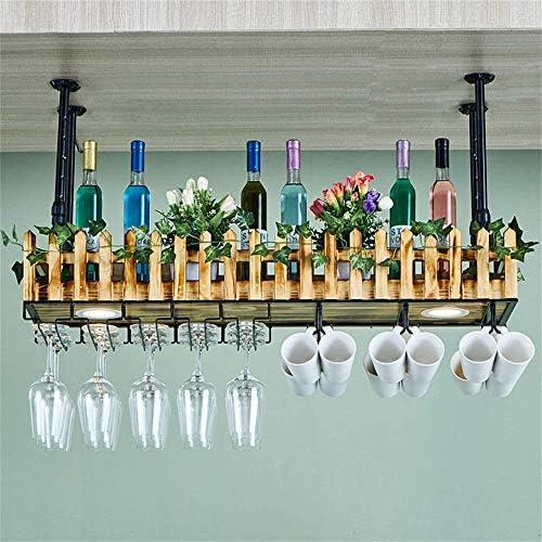 Wanddecoratie Plank Hek Type Muur Plafond Metaal En Hout Wijnrek Glas Opslag Home Keuken Decoratie