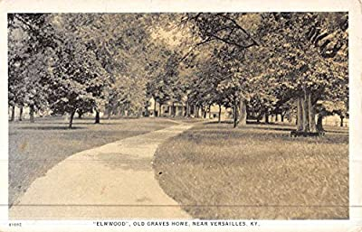 Versailles Kentucky Elmwood Old Graves Home Antique Postcard K46481