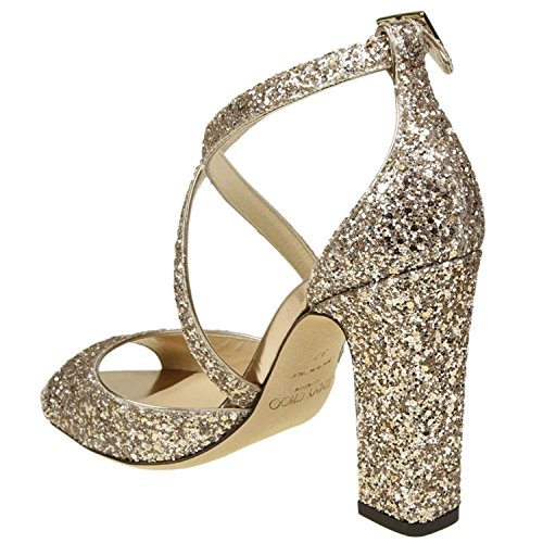 Jimmy Choo Femme CARRIE100SAO Or Paillettes Sandales