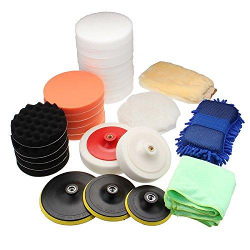 QOJA 29pcs sponge buffing polishing pad buffer kit for electric