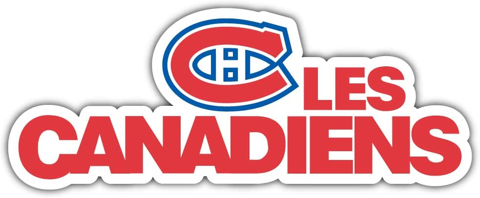 MONTREAL CANADIANS decal stickers 12 x 8 inch Red vinyl