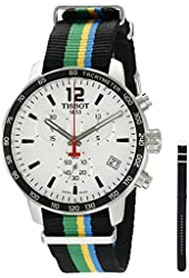 Tissot Men's 'Quickster' Swiss Quartz Stainless Steel and Nylon Automatic Watch, Multi Color (Model: T0954171703702)