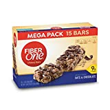 Fiber One Chewy Bar, Oats and Chocolate, 15 Fiber Bars Mega Pack, 21.2 oz (Pack of 2) (Packaging may vary)