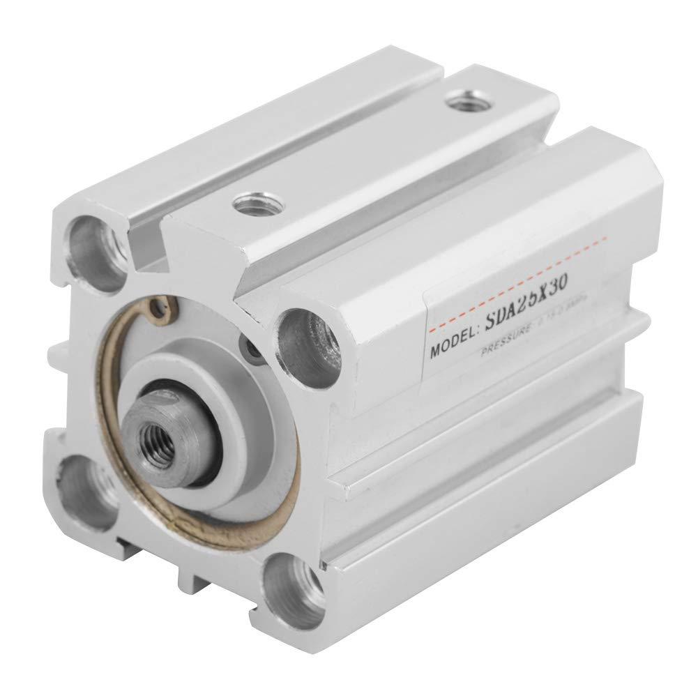 1Pcs SDA 25x30 Compact Aluminum Pneumatic Double Action Air Cylinder Air Cylinder