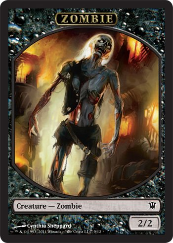 - Magic: the Gathering - Zombie Token C - Innistrad