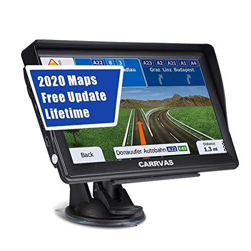 SAT NAV for Cars Trucks Lorry, 7 inch Pre-Installed 2021 Europe UK Ireland Maps (FREE Lifetime Map Updates), CARRVAS GPS…