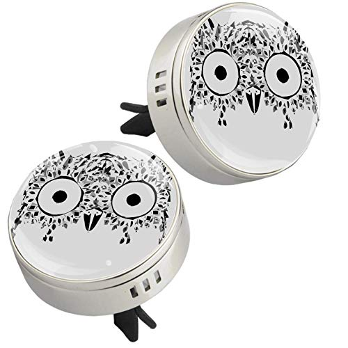 2PCS Animal Owl Aromatherapy Car Vent Air Freshener Essential Oil Diffuser With Vent Clip