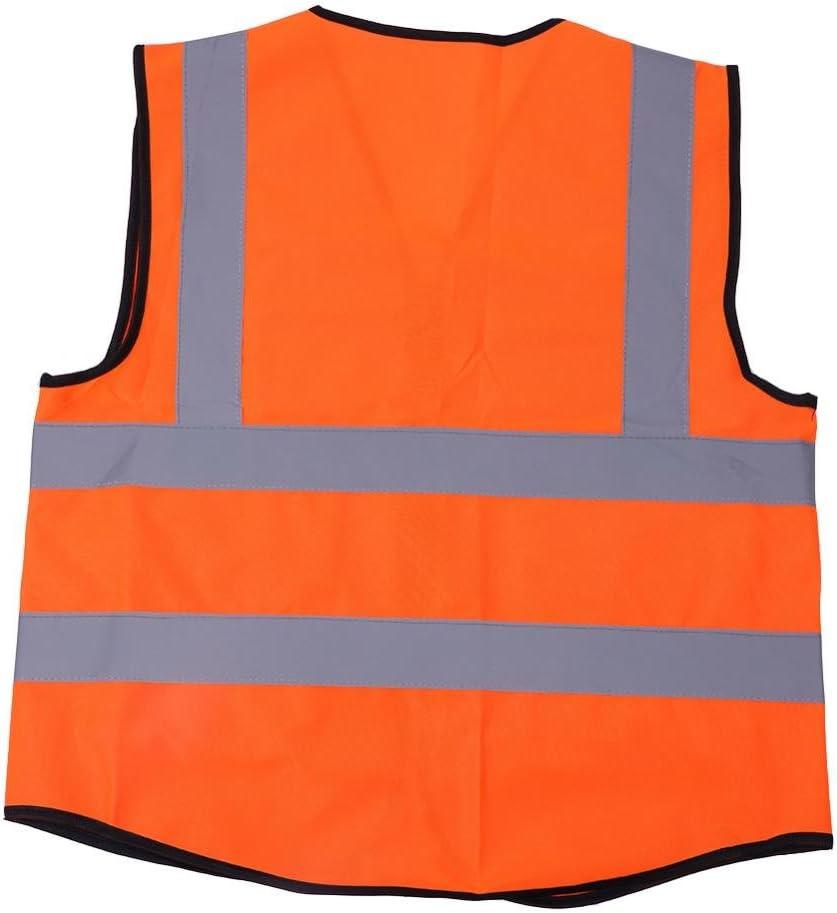 Reflektierende Sicherheitsweste,Warnschutzweste,Warnschutzweste mit Reflektionsstreifen und mehreren Taschen aus atmungsaktivem und gestricktem Netzgewebe,Warnschutzweste f/ür Arbeiten im Freien # 1