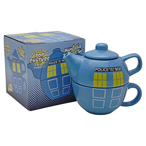 Police Box Teapot and Mug Set - Doctor Dr Who Tardis