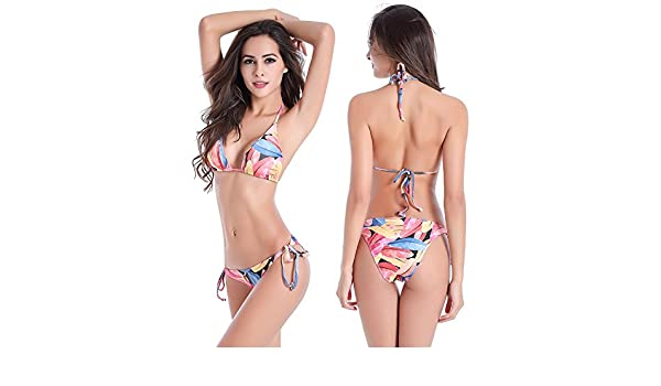 6dff6259787 Hongye 2017 Hot Sexi Lady Photo Adjustable Straps Fully lined Classical  Removable Pad Bikinis Womens Size XXXXL Flowers  Amazon.ca  Clothing    Accessories