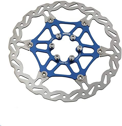 ロードバイクディスク マウンテンバイクのフローティングディスクプレート自転車ディスクフローティングブレーキディスクブレーキ (色 : Blue 180)