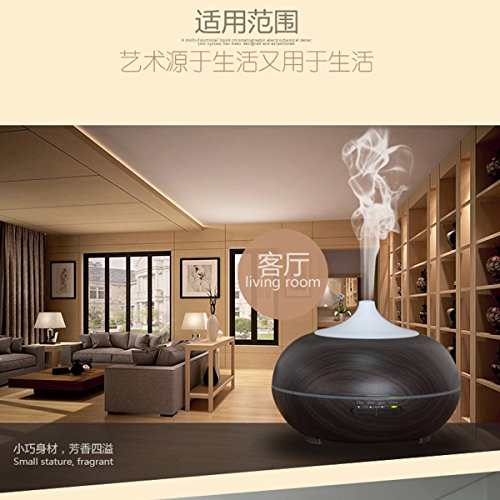 Kingmas 300ml aroma essential oil diffuser ultrasonic cool for Living room humidifier