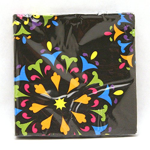 [Day Of The Dead Beverage Napkins 16ct] (Day Of The Dead Party Supplies)