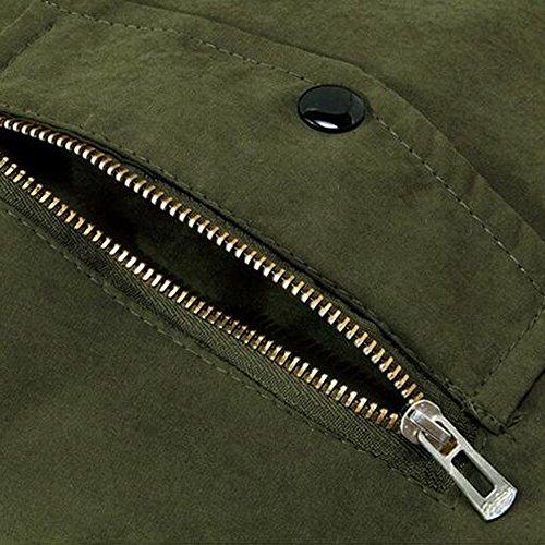 Parka Longue Nouveau Verte Veste Armée Militaire Coton Encapuchonné Feitong Blouson Style Z8U8Pq
