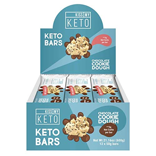 Kiss My Keto Snacks Keto Bars - Keto Chocolate Cookie Dough, Nutritional Keto Food Bars, Paleo, Low Carb/Glycemic Keto Friendly Foods, All Natural On-The-Go Snacks, Quality Fat Bars, 3g Net Carbs by Kiss My Keto (Image #2)