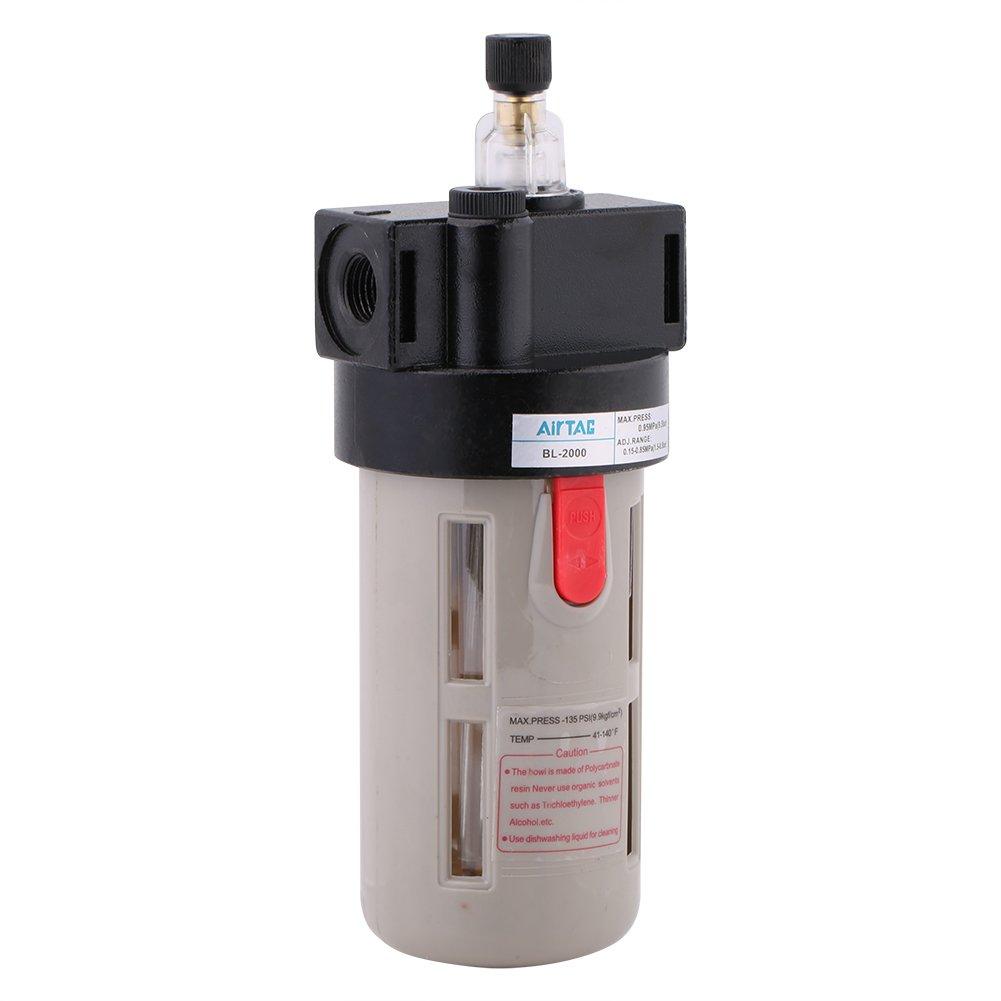 BL-2000 Filtre Lubrificateur d'Huile, Walfront Filtre Ré gulateur Lubrificateur de Traitement de Source d'Air G1 / 4 pour le Systè me Pneumatique