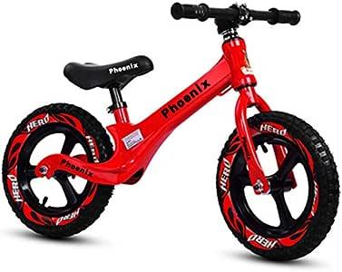 QunWang Bicicleta De Equilibrio para Niños Bicicleta De Entrenamiento 2-6 Años Bicicleta De Equilibrio para Niños Red-OneSize: Amazon.es: Hogar