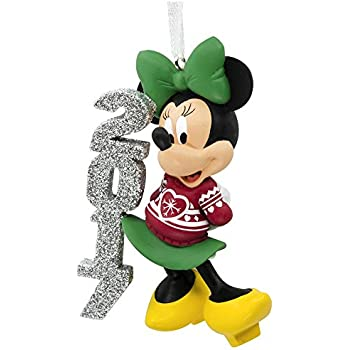 Disney Minnie Mouse 2017 Dated Christmas Tree Ornament Red Holiday Sweater