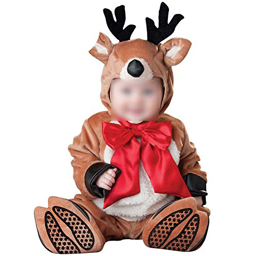 Jumpsuits Elephant Onesie Warm Soft Animal CPajamas Halloween Costumes,Deer,M,Animal]()
