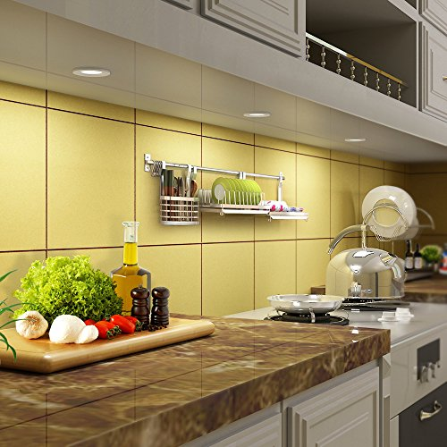 Dewenwils Dimmable LED Puck Lights Under Cabinet Lighting Recessed Or  Surface Mounting For Kitchen Counter Closets 6W ...