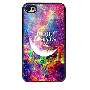 DD Take Me To Neverland Design Aluminum Hard Case for iPhone 4/4S , Multicolor