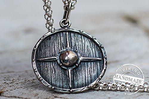 (Vikings Shield Pendant Sterling Silver Handmade Viking Jewelry )