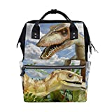 MALPLENA Daypack Animals Compsognathus Dinosaur School Bag Travel Backpack