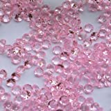 PolysGems Lot de 4000cristaux pour décoration de table Style diamant Rose tendre 4,5mm