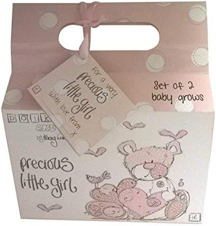 Pack de 2 Precioso Little Girl Body para bebé ropa rosa con bolsa ...