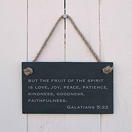Amazon Com Engraved Sign Plaque But The Fruit Of The Spirit Is Love