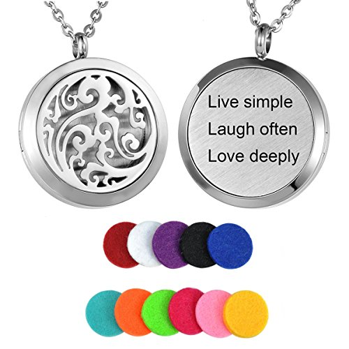 HooAMI Aromatherapy Essential Oil Diffuser Necklace -