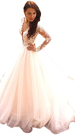 Light Pink Ball Gown Dresses with Sleeves
