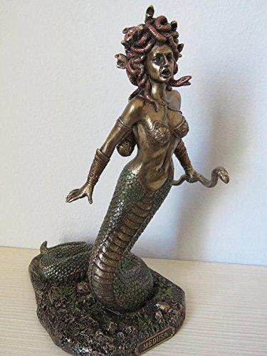Figur Perseus Medusa Kopf Gorgone Mythologie Antike Skulptur Veronese signiert